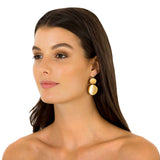 TRIBAL SHIELD EARRINGS - GOLD