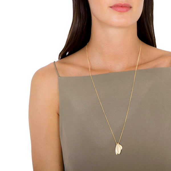 TRILOGY CHARM NECKLACE - GOLD