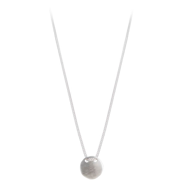 ALEXA TAG NECKLACE - SILVER