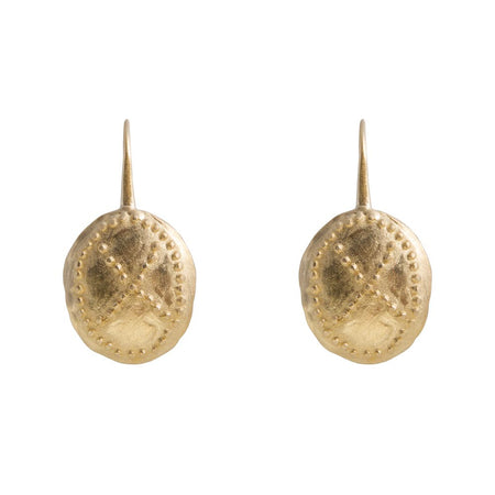 SHIELD EARRINGS - GOLD