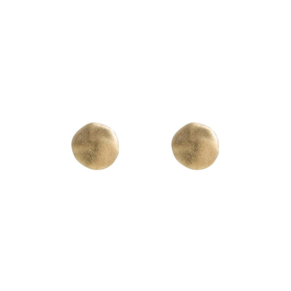 ALEXA DISC STUDS - GOLD