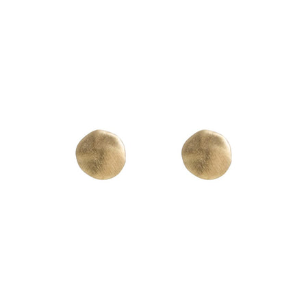 GRANULATION DISC EARRINGS - SILVER