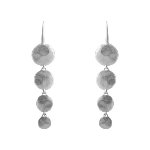 ALEXA WATERFALL EARRINGS - SILVER