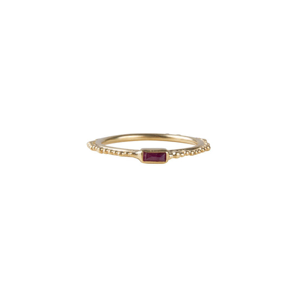 RUBY CROWN STACKER RING