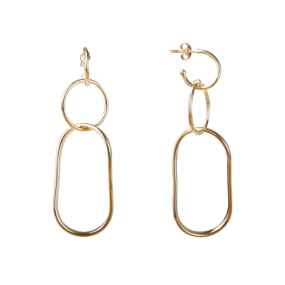 ALEXA TWIST LINK EARRINGS - GOLD