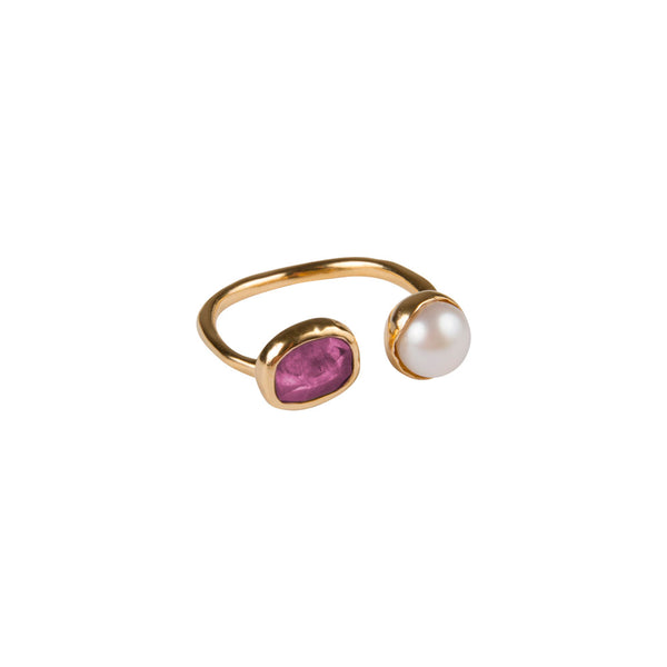 PEARL & PINK SAPPHIRE RING