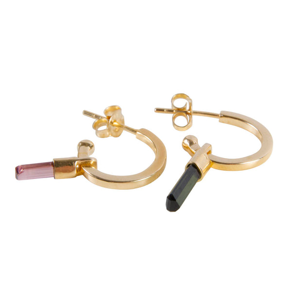 SAMARA TOURMALINE RAINBOW HOOPS