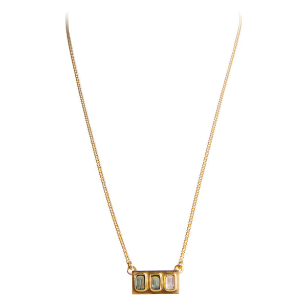 TOURMALINE BAGUETTE NECKLACE