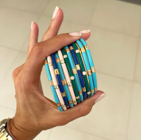 PEARL PENDULUM EARRINGS - SILVER