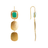 GREEN AGATE FOREST EARRINGS