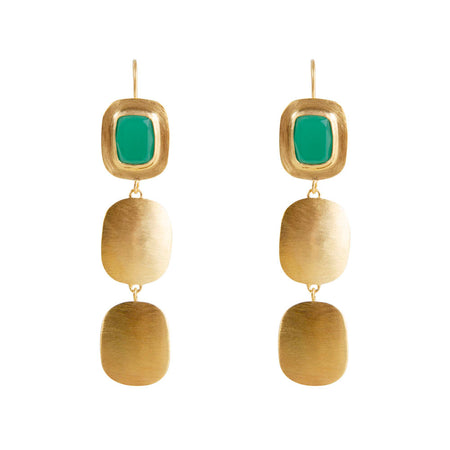 ALEXA GRANULATION SOLEIL EARRINGS - SILVER