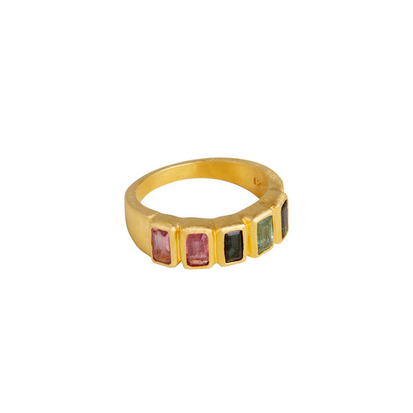 TOURMALINE BAGUETTE RING - GOLD