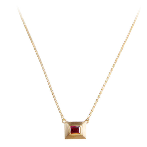 RHODOLITE DECO NECKLACE