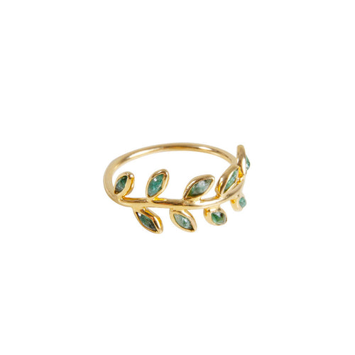 EMERALD VINE RING