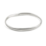 ALEXA BRUSHED BANGLE - SILVER