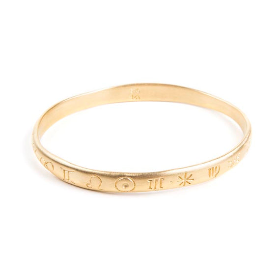ZODIAC BANGLE - GOLD