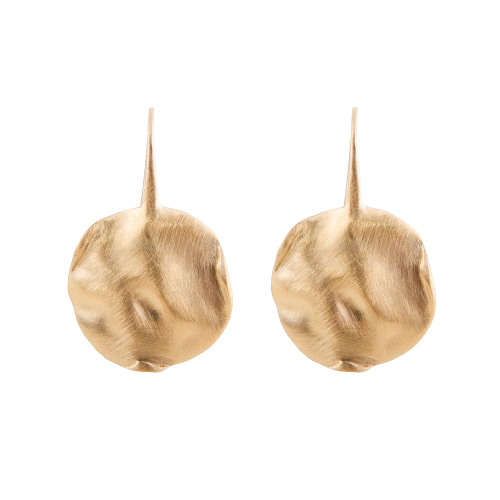 ALEXA BEATEN DISC EARRINGS GOLD