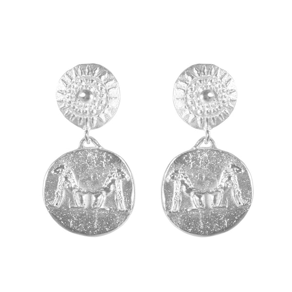 TRIBAL ETERNITY EARRINGS SILVER