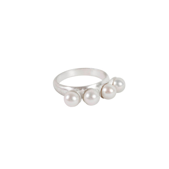 BAUBLE PEARL RING SILVER