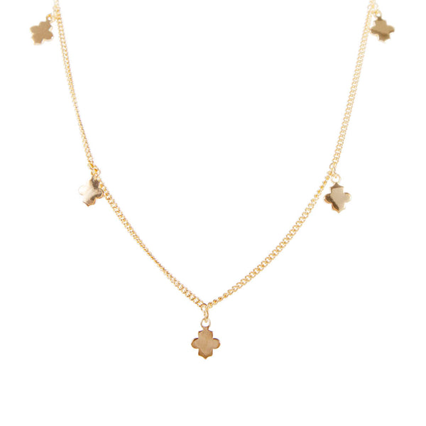 CLOVER CHARM NECKLACE - GOLD