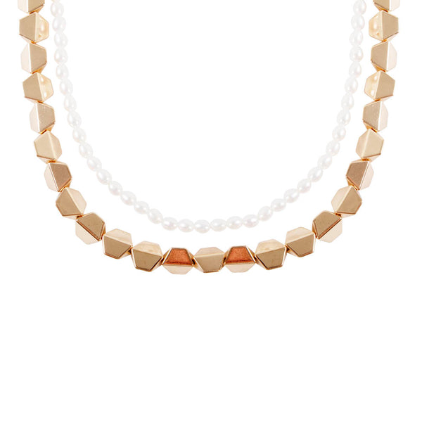 PEARL HEX NECKLACE