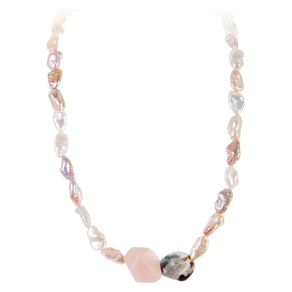 KESHI JASPER SORRENTO NECKLACE