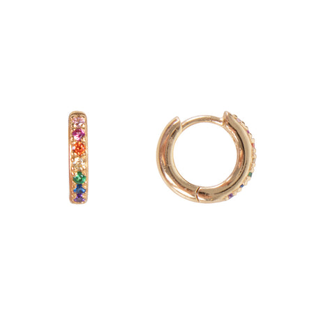 RAINBOW BAR HOOPS