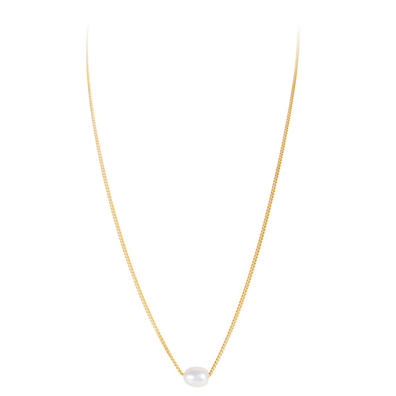 MINI PEARL TEARDROP NECKLACE - GOLD