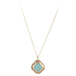 AMAZONITE CLOVER NECKLACE