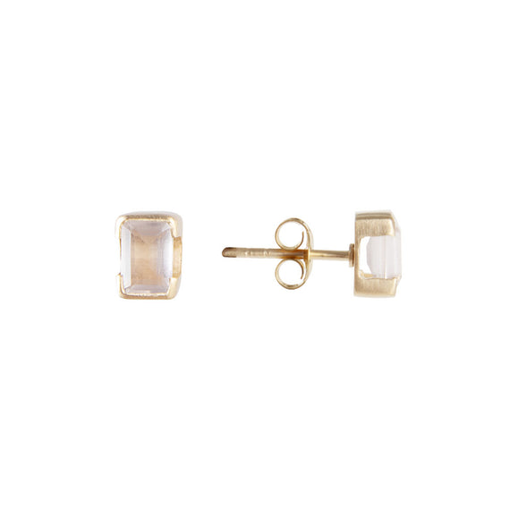 OCTOBER BIRTHSTONE STUDS - ROSE QUARTZ