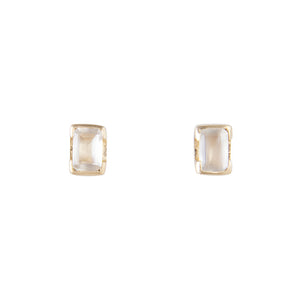 JUNE BIRTHSTONE STUDS - MOONSTONE