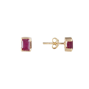 JULY BIRTHSTONE STUDS - RUBY