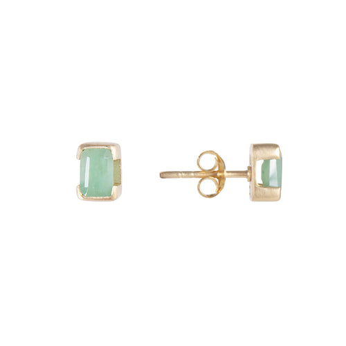 MAY BIRTHSTONE STUDS - EMERALD