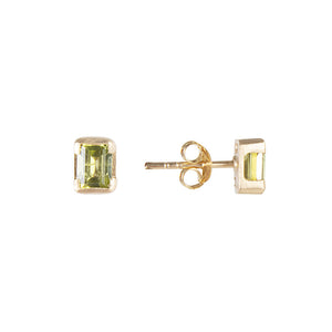 AUGUST BIRTHSTONE STUDS - PERIDOT