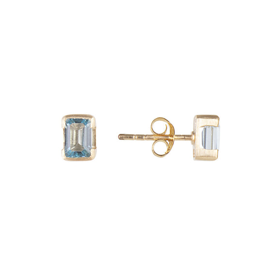 DECEMBER BIRTHSTONE STUDS - BLUE TOPAZ