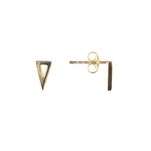 TRIANGLE STUDS - GOLD