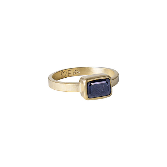 BLUE SAPPHIRE DECO RING