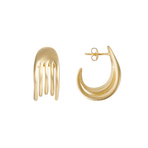 GOLD COMB HOOPS