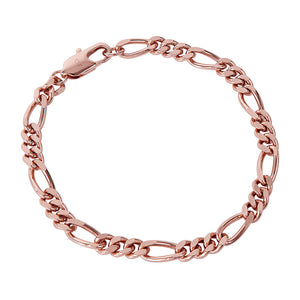 ROSE GOLD FIGARO CHAIN BRACELET