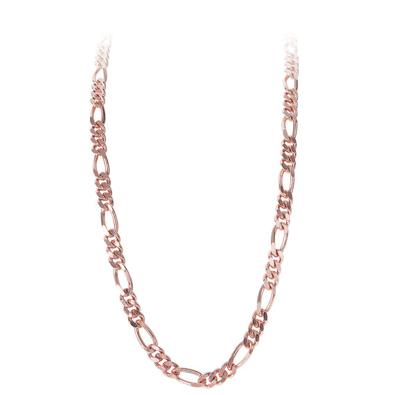 ROSE GOLD FIGARO CHAIN NECKLACE