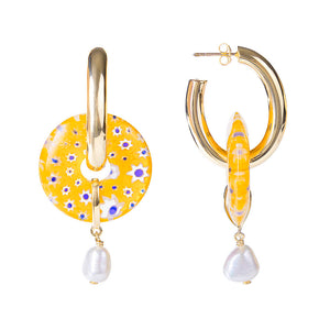 GIALLO PEARL HOOPS
