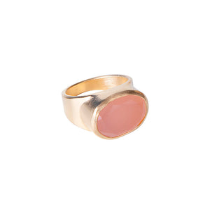 PINK CHALCEDONY COCKTAIL RING