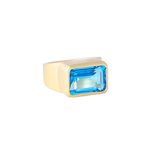 SWISS TOPAZ COCKTAIL RING