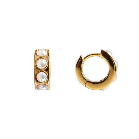 STARDUST HOOPS - GOLD