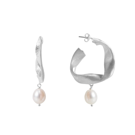 PEARL OLIVE BRANCH EARRINGS