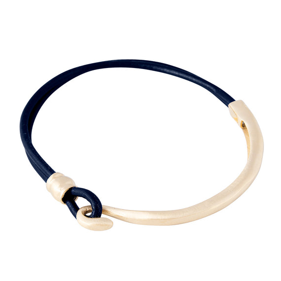 LEATHER BRACELET - NAVY