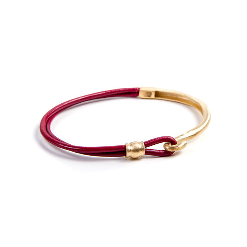 ALEXA LEATHER BRACELET - RED