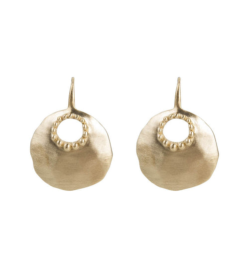 GRANULATION DISC EARRINGS - GOLD