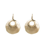 ALEXA GRANULATION DISC EARRINGS - GOLD