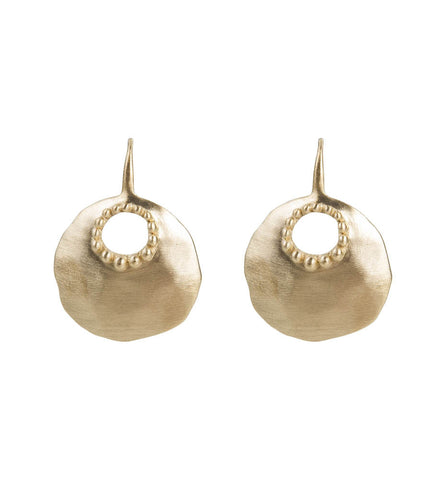 ALEXA GRANULATION EARRINGS - GOLD